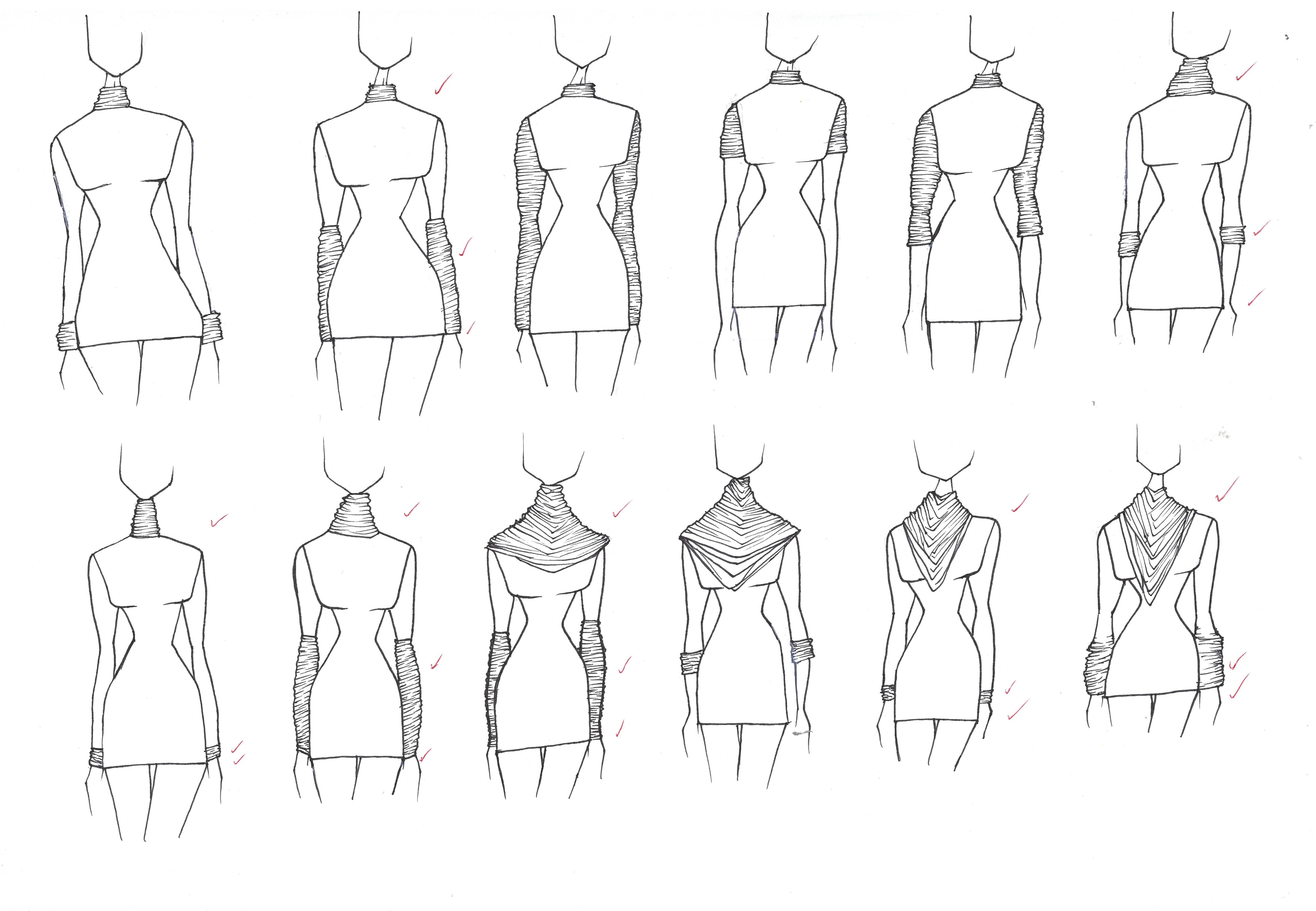 Dress Design Fashion Collars Turtle Neck Slim Silhouette