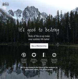 REI Membership Landing Page Redesign