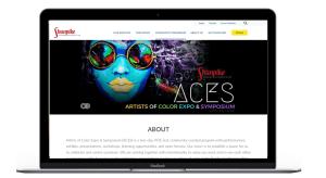 Shunpke ACES desktop page on silver Macbook