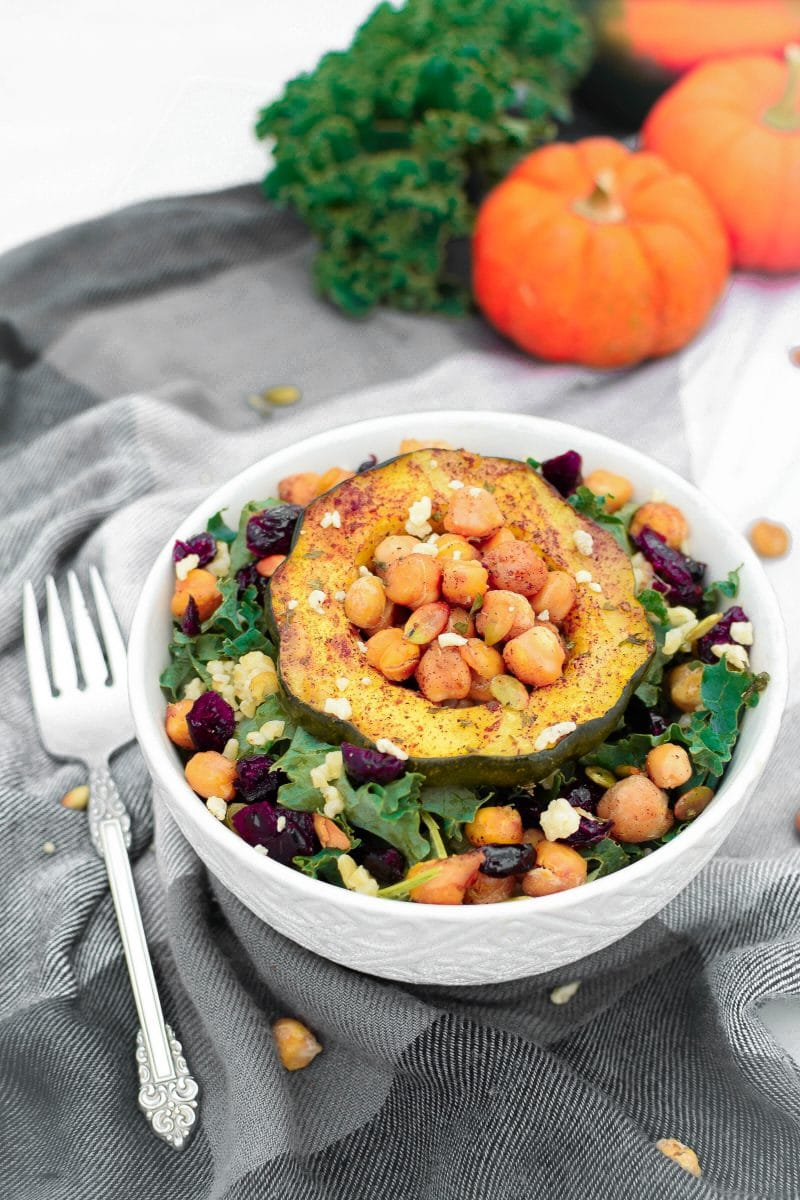 Autumn Harvest Plant-Based Protein Power Bowl by Emily Kyle Nutrition
