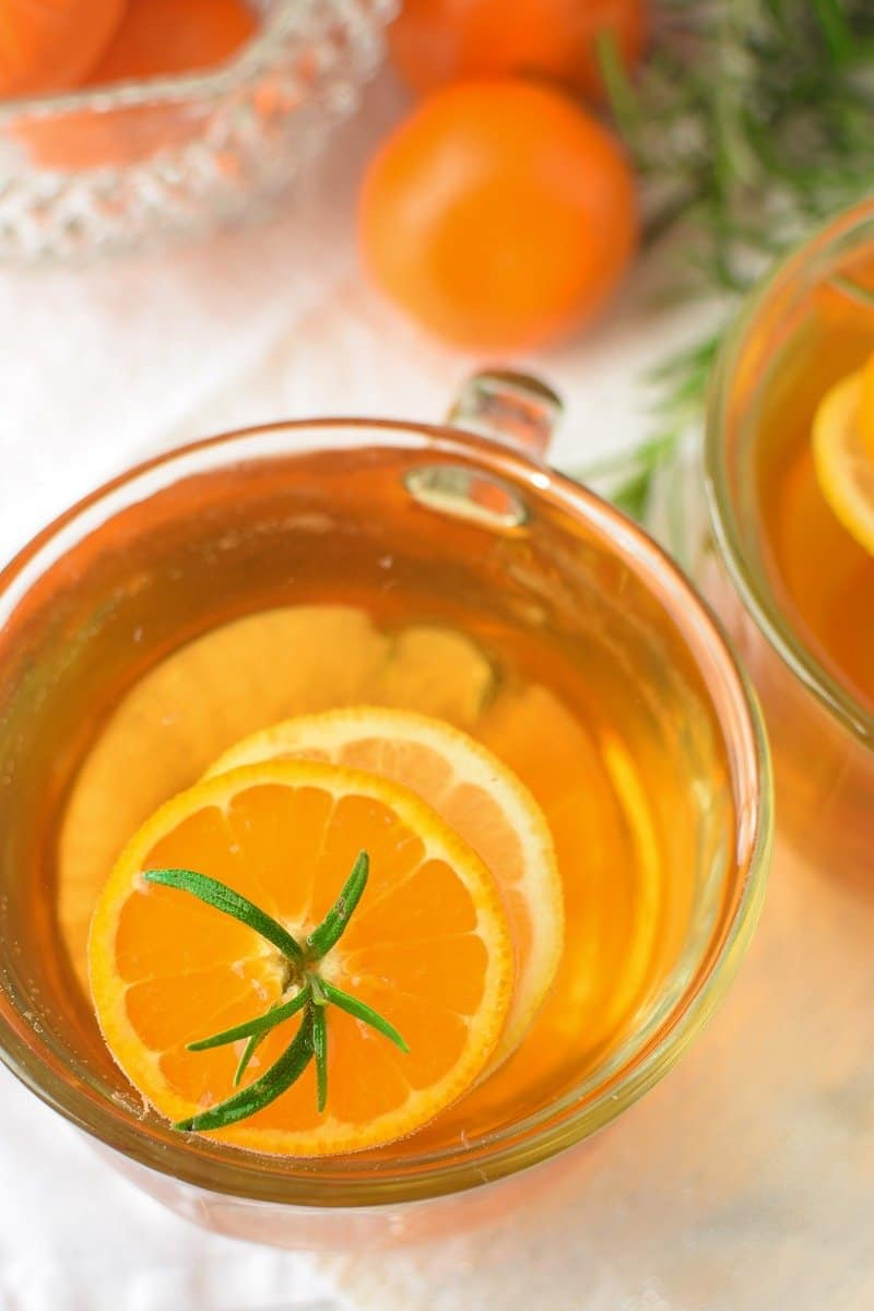 Mandarin Orange and Rosemary Hot Toddy by Emily Kyle Nutrition