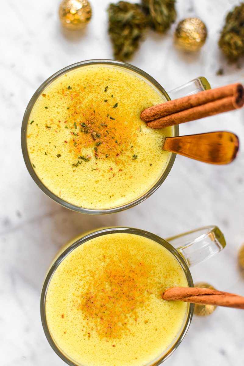 Cannabis Infused Golden Milk by Emily Kyle Nutrition