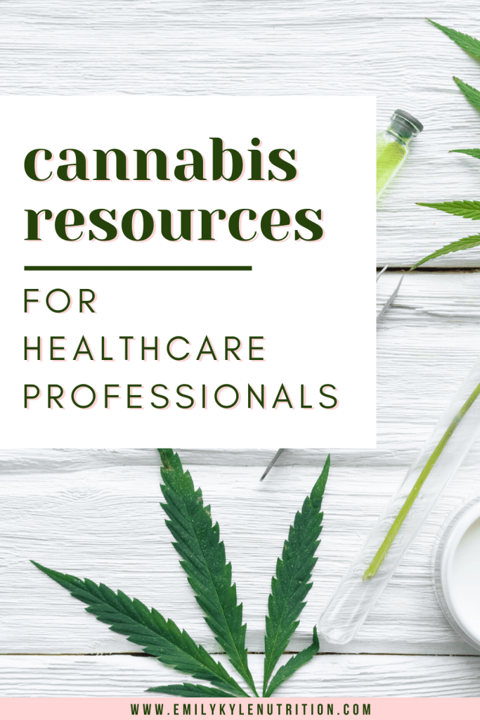 Cannabis Resources for Healthcare Professionals
