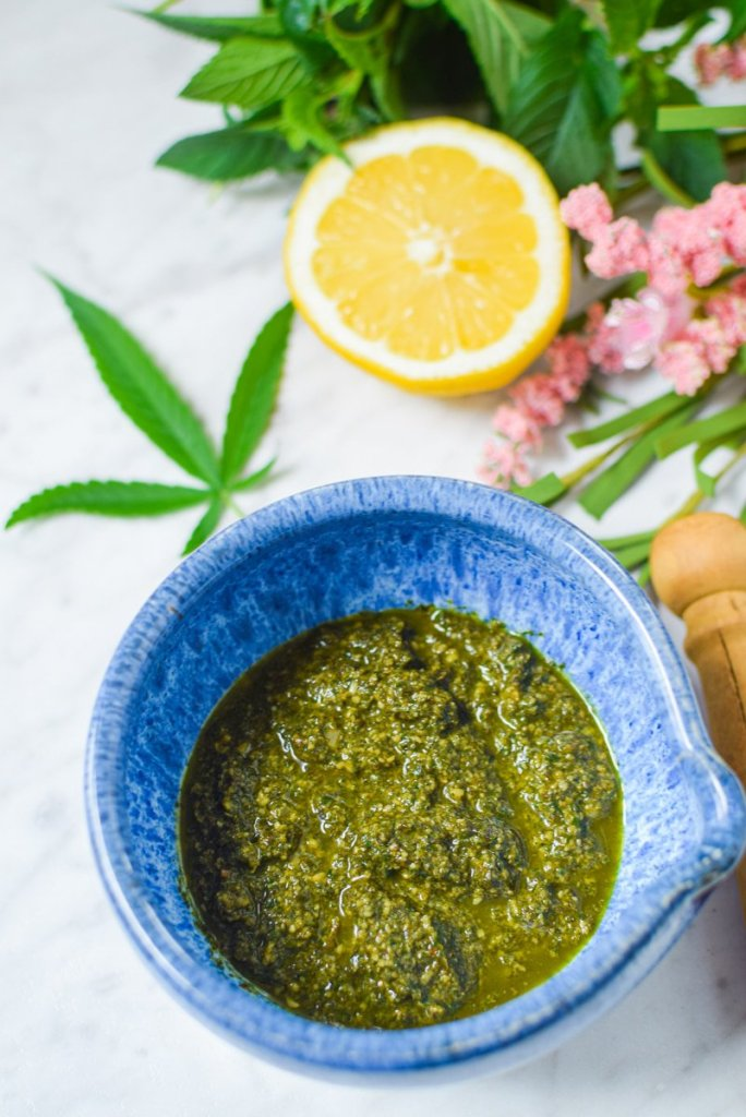 Cannabis Pesto by Emily Kyle Nutrition39 - Easy Cannabis Pesto