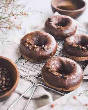 Chocolate & Espresso Doughnuts