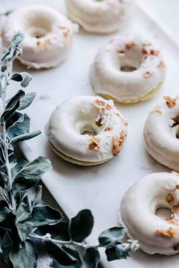 Coconut Cream Doughnuts