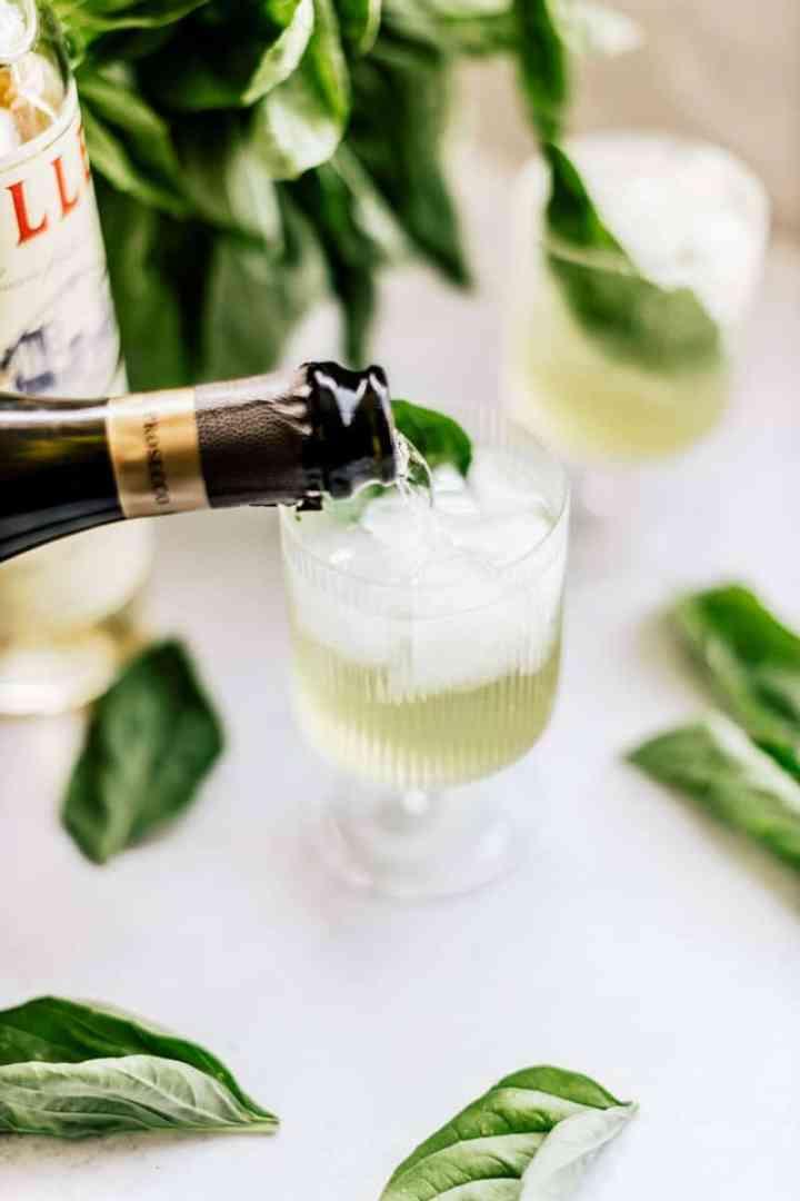 Sparkling Wine Basil Spritz