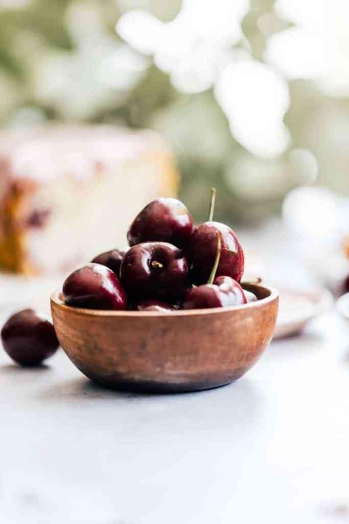 Cherries for Cherry Ricotta Pound Cake with Cream Cheese Icing