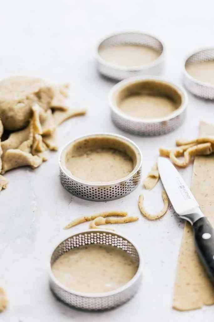 making almond tart dough