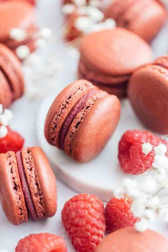 Yuzu Raspberry Macarons