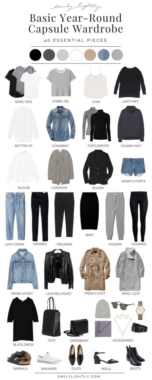 Basic Year-Round Capsule Wardrobe