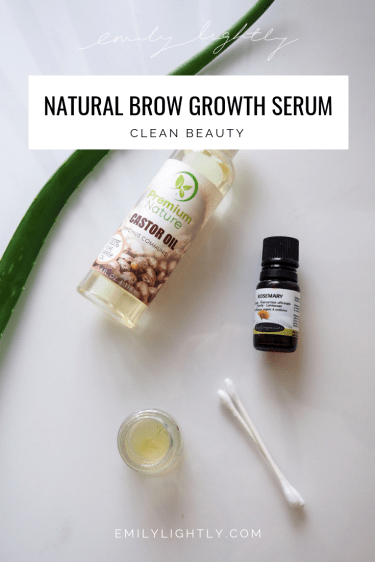 DIY Natural Brow Growth Serum Pin