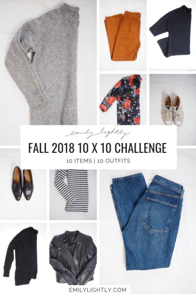 Fall 2018 10 x 10 Challenge Recap