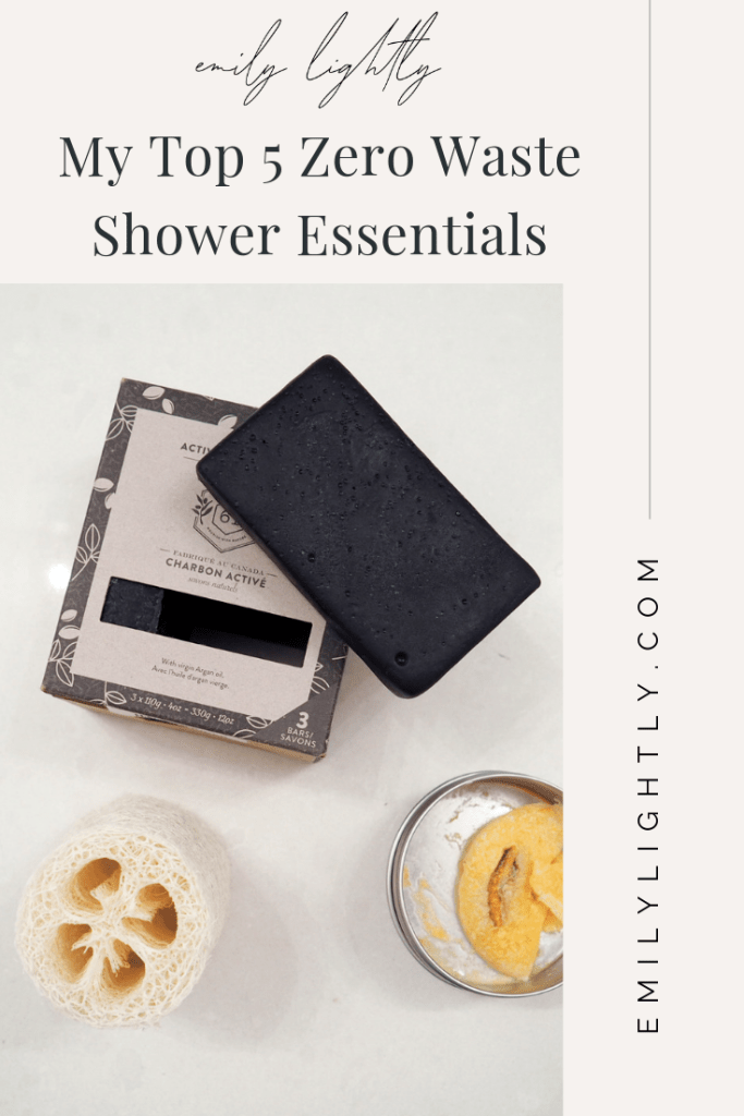 My Top 5 Zero Waste Shower Essentials - Emily Lightly