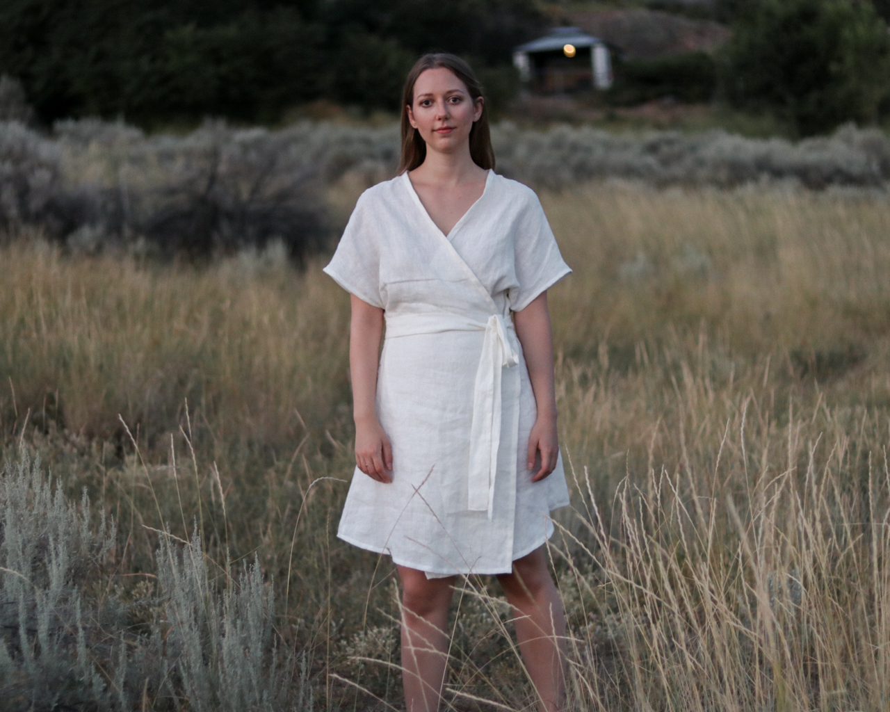Bellbird Wrap Dress Pattern Review - Emily Lightly