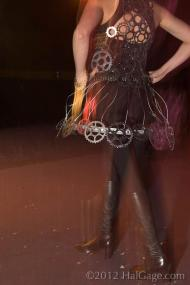 2012 Object Runway IGCA Bicycle Sprocket Dress Amanda Longbrake Odegard 1