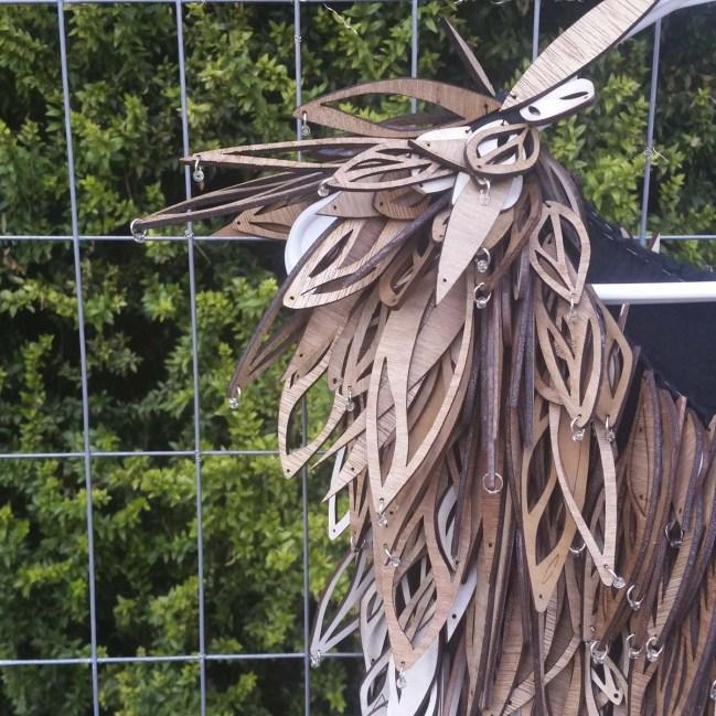 2015 Bunnell Wearable Art Laser Cut Feather Dress 1