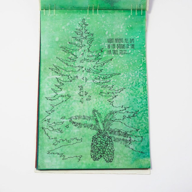 Fifty Trees artist book by Emily Longbrake 11