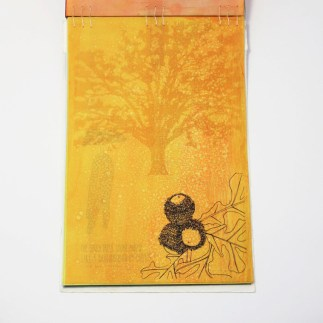 Fifty Trees artist book by Emily Longbrake 34