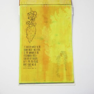 Fifty Trees artist book by Emily Longbrake 37