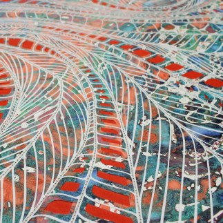 Rainbow Forest panel 3 detail