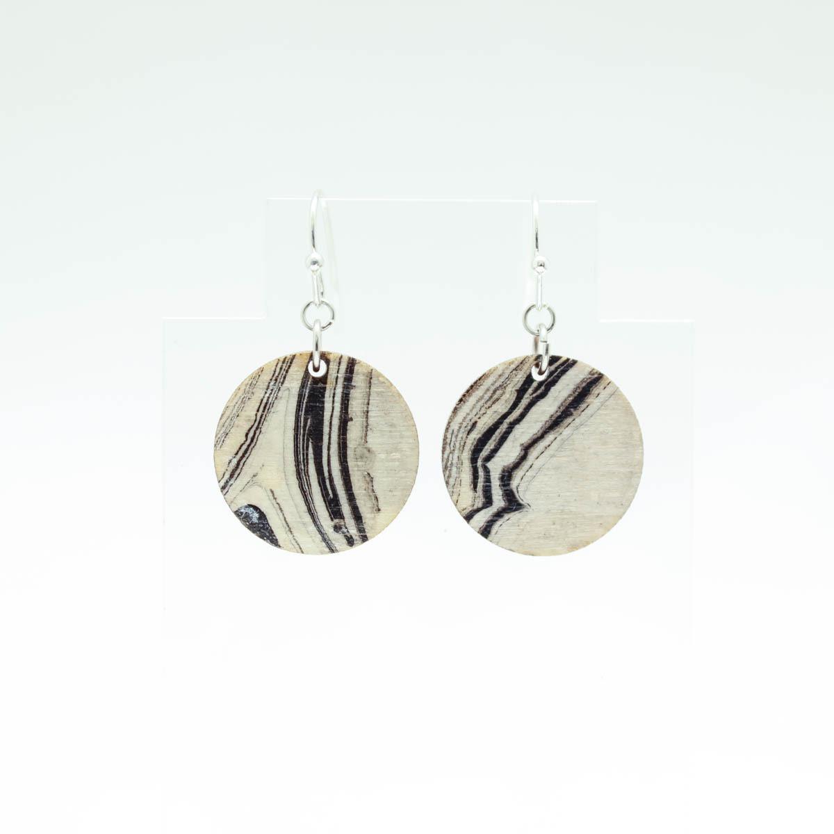 Round Marbled Earrings – Medium