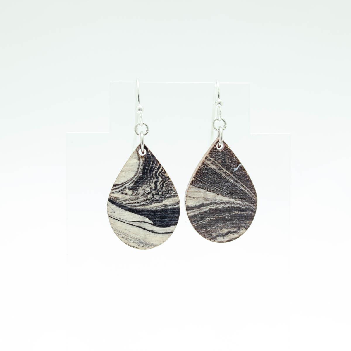 Droplet Marbled Earrings