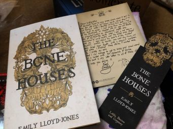The Bone Houses by Emily Lloyd-Jones with letter and bookmark