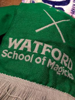 Watford School of Magicks Scarf designed by @heyatlascreative