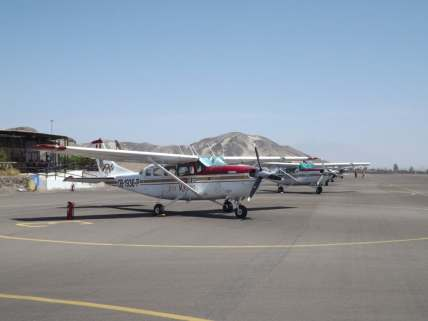 Nazca lines flight plane