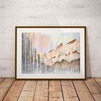 nature art, landscape art, mountain art