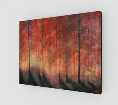 forest art print, nature art print, tree art print