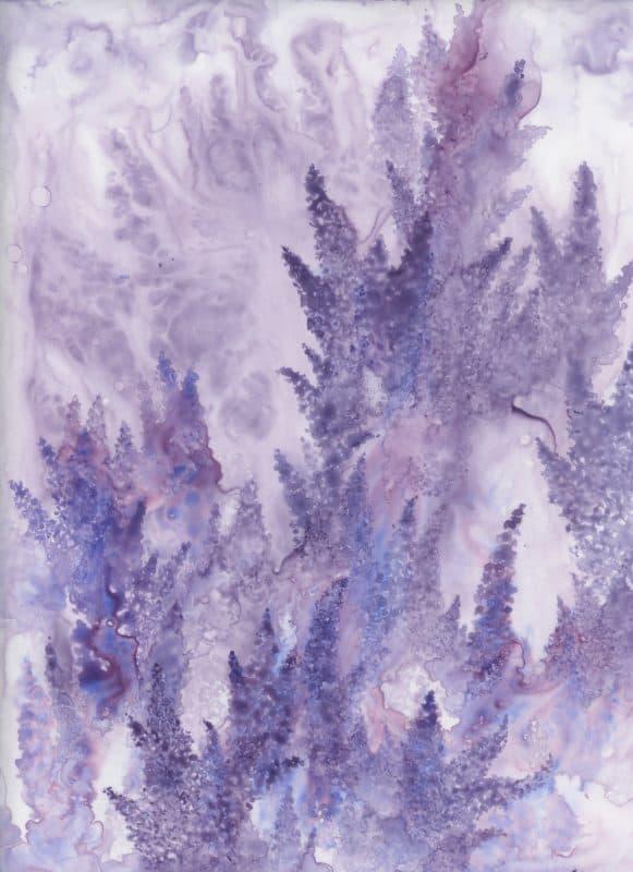 lavender art, lavender painting, watercolor flowers