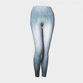 Yoga Leggings, Blue Leggings, Art Leggings
