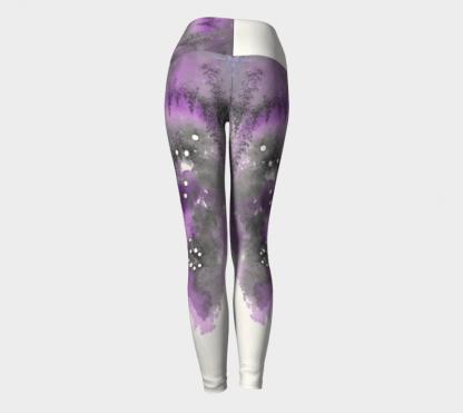 Watercolor Leggings, Purple Leggings, Art Leggings