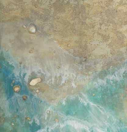ocean art, seashell art, sand painting