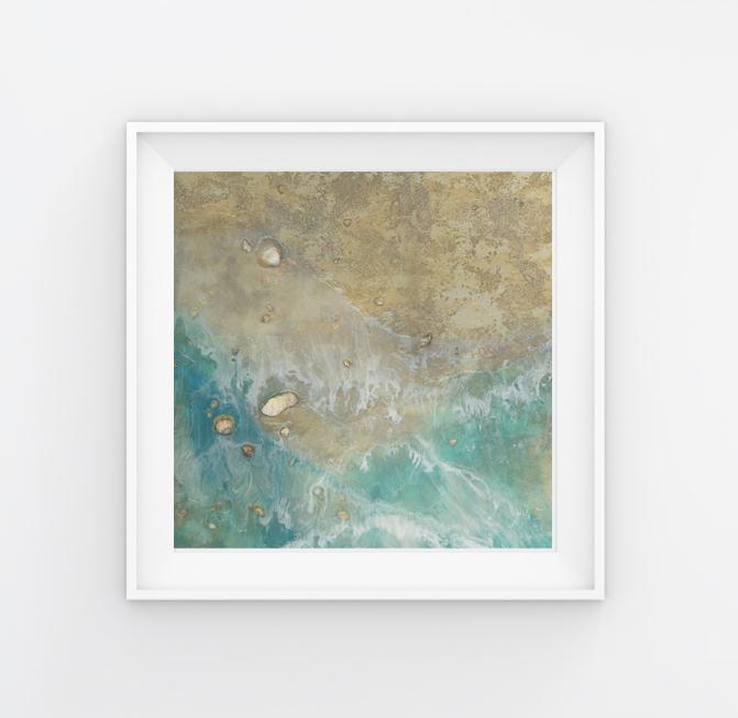 beach art, sand art, ocean art