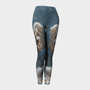 Teal Leggings, Printed Leggings, Mushroom Leggings