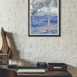 nature art, tree art, abstract tree