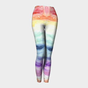 Watercolor Leggings, Rainbow Leggings, Rainbow Tights