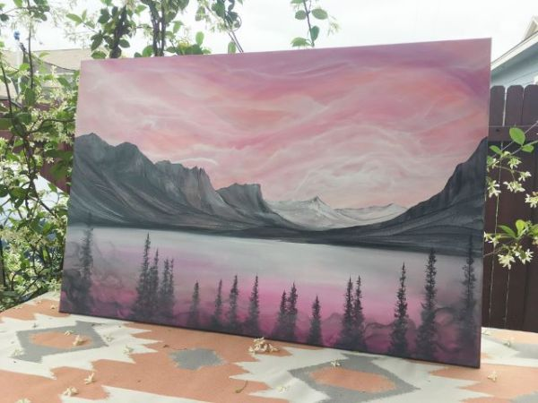 nature art, wall art, glacier park, landscape painting