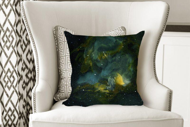 space pillow, galaxy pillow, nebula pillow