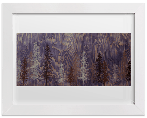 """Purple Trees"" Prints"