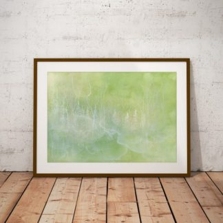 forest art, nature art print, misty forest