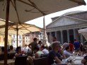 Having lunch at the Pantheon, Rome Italy 2011