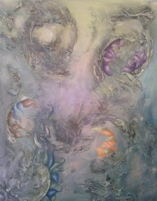 """Inspiration"", c. 2010 - Mixed Media on Canvas - 20x24 - Available"