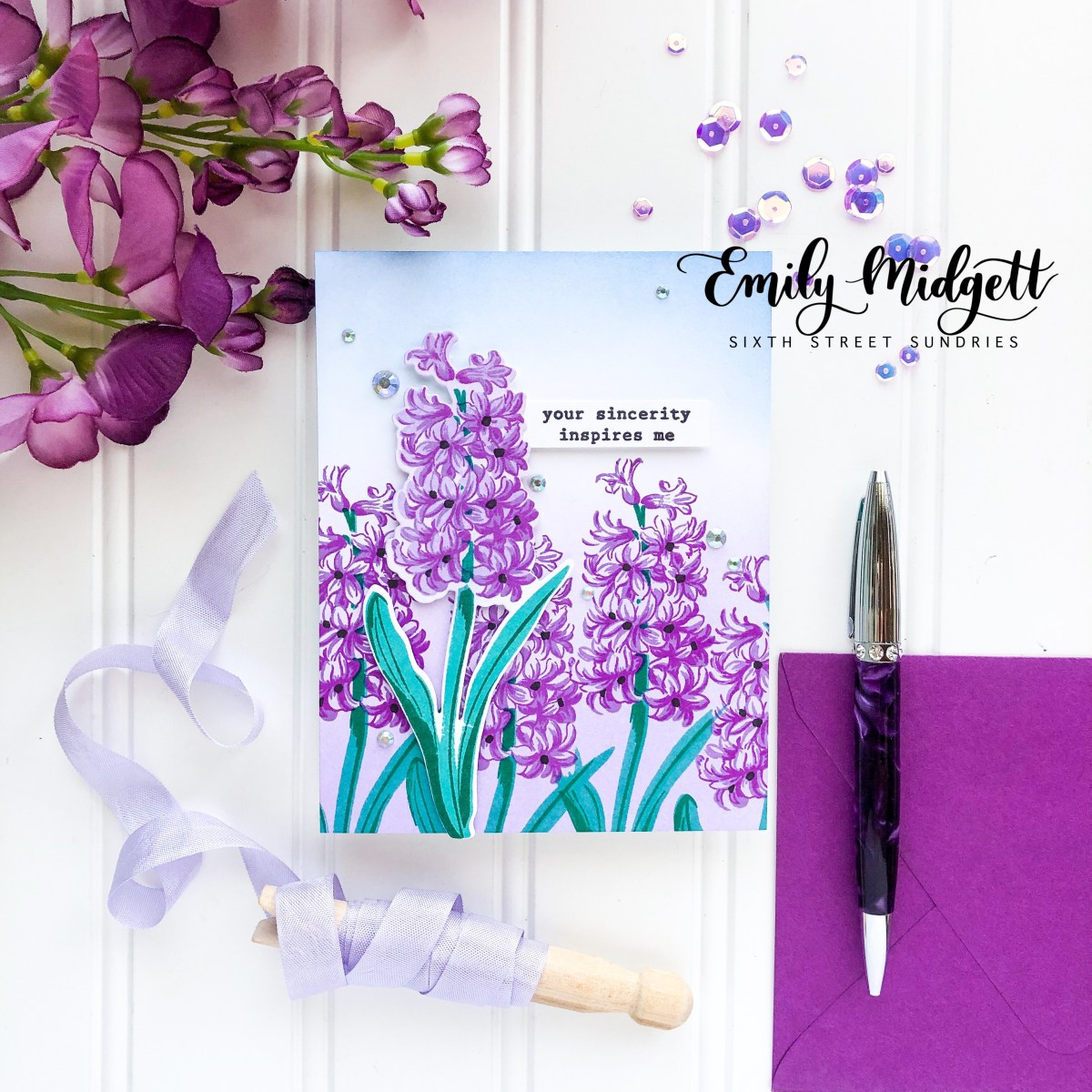 Altenew Build A Flower: Hyacinth Blog Hop+GIVEAWAY!