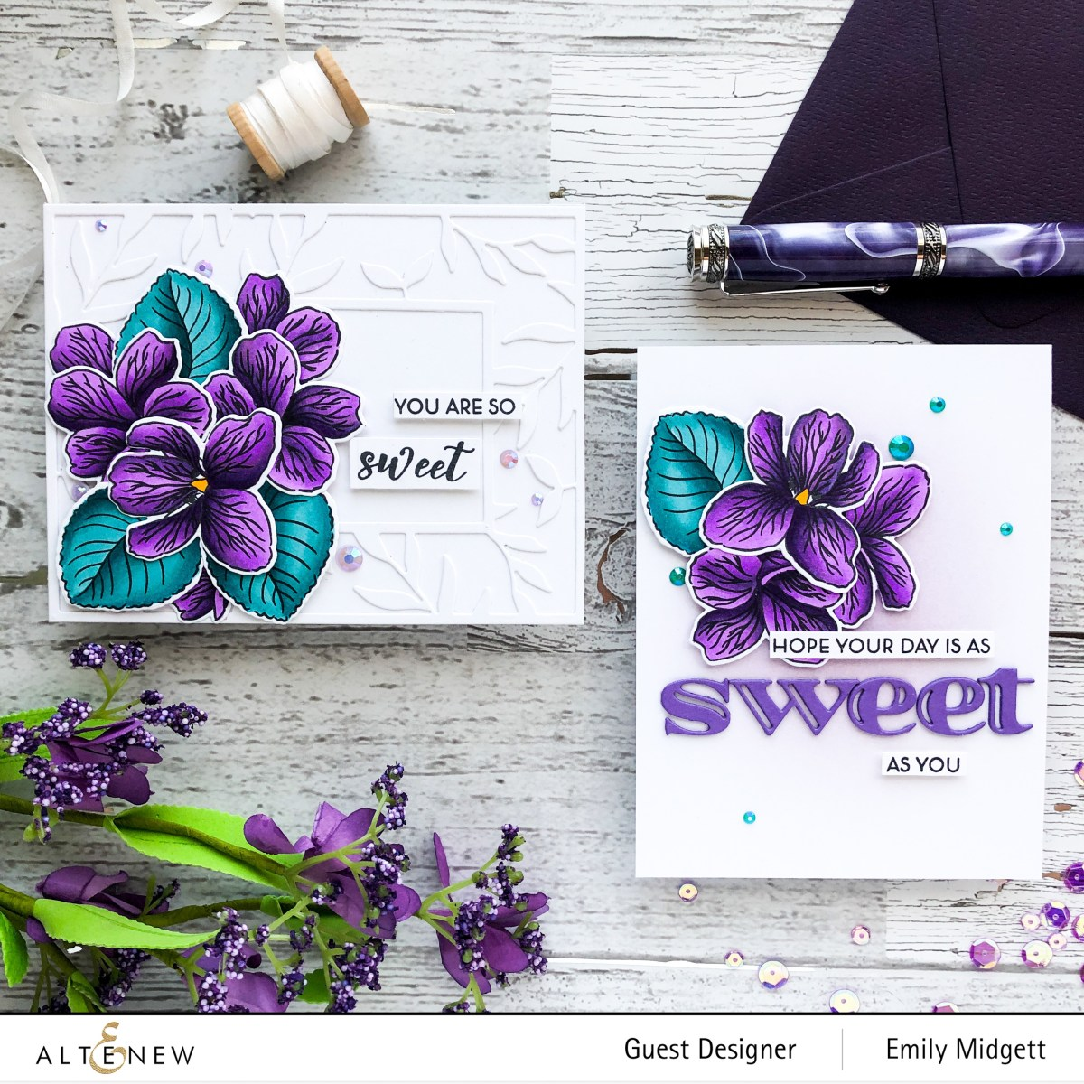 Altenew Build A Flower Sweet Violet+Giveaway!