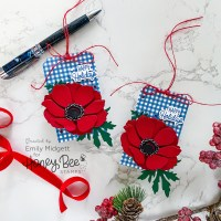 Red Anemones for Christmas Tags!