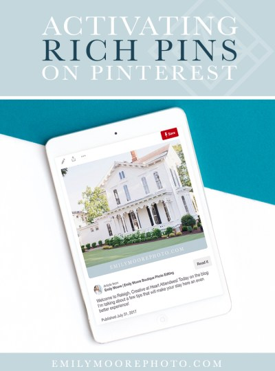 Activating Rich Pins on Pinterest